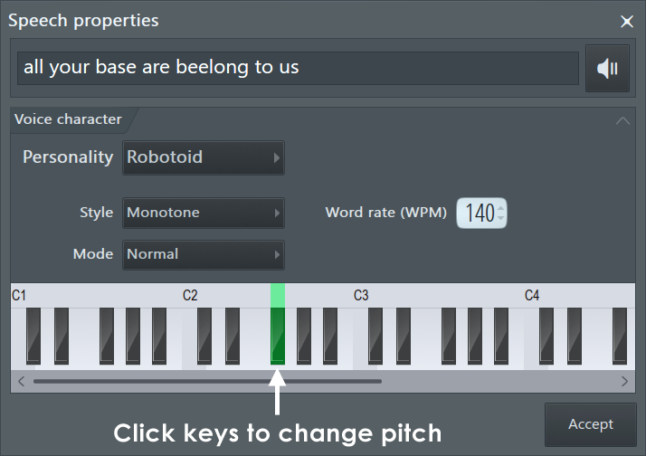Speech Synthesizer - Generator