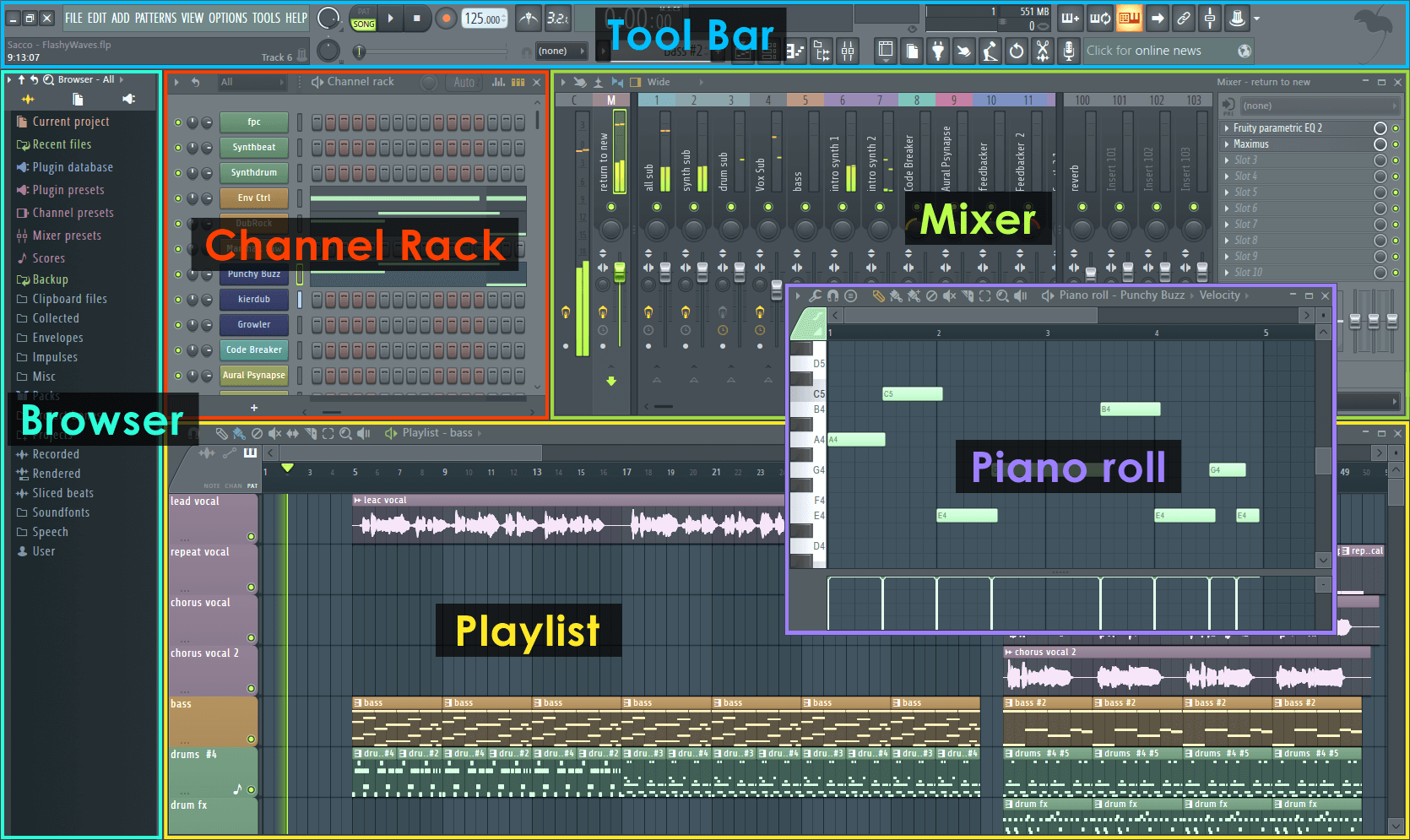 Image result for flstudio layout interface