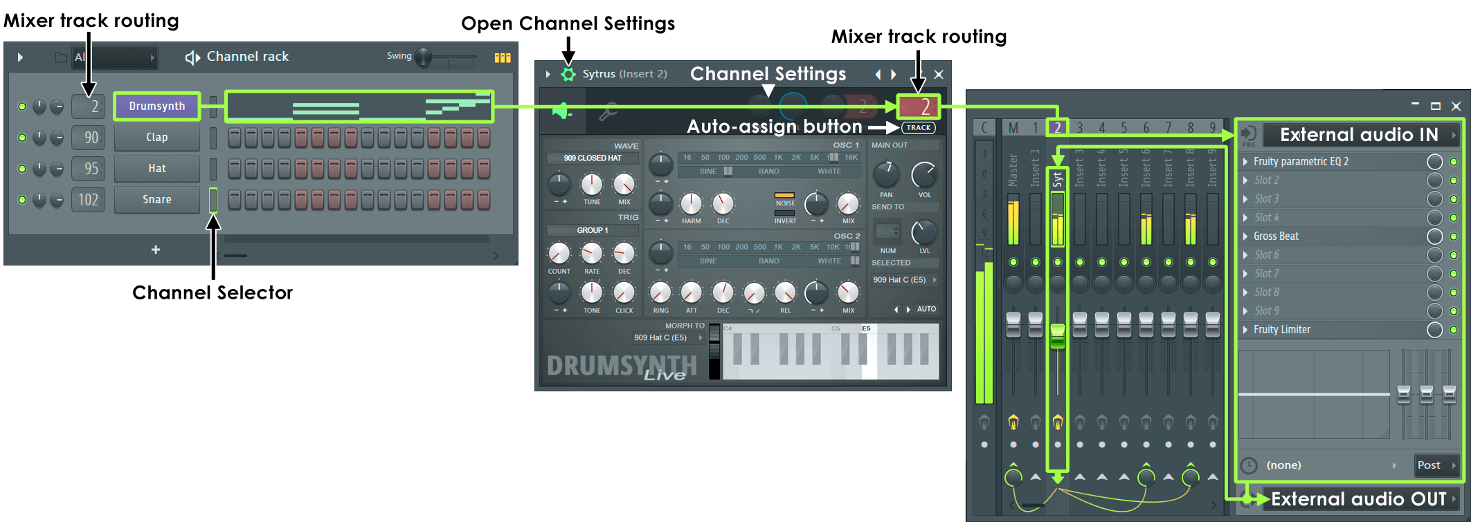 Mixer Audio Routing