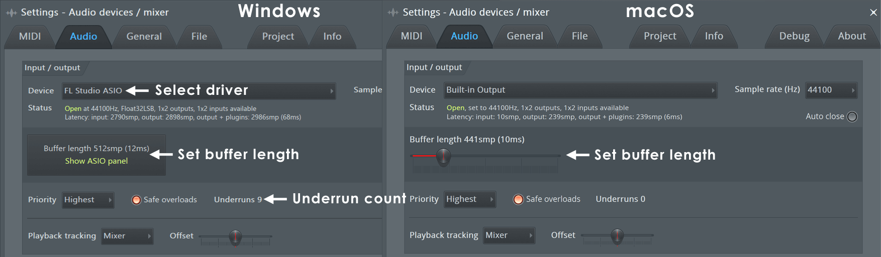 Fl studio audio input options are greyed out (can't select an.