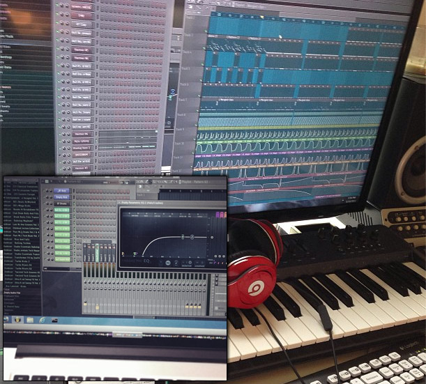 BT Using FL Studio in his studio