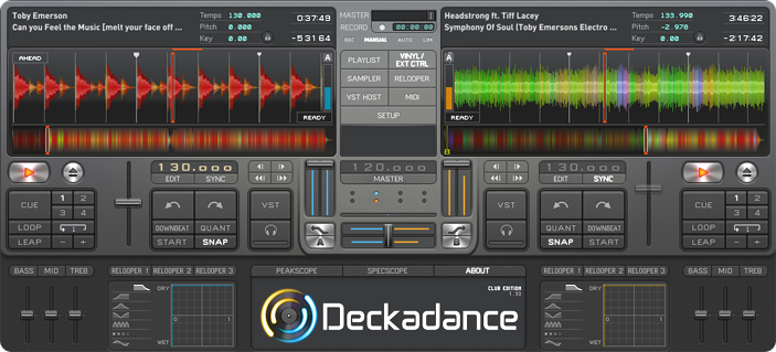 Deckadance DJ Mixing Application