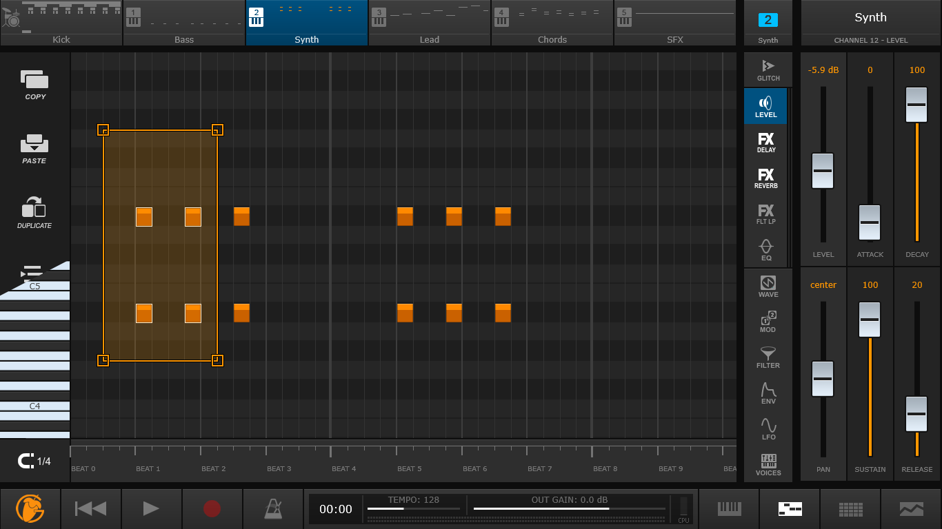 FL Studio Groove Piano roll