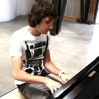 Mason Levy at the piano