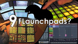 FL Studio using 9 Launchpads photo