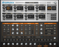 Image of the Drumaxx plugin user interface.