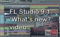 Image of the FL Studio 9.1 graphical user interface.