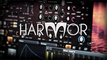 Harmor logo and interface