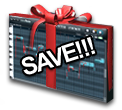 Save money on buying Newtone. Image of the Newtone interface as a wrapped present.