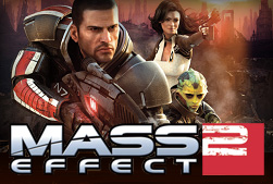 Image of the Mass Effect 2 video game artwork and logo.