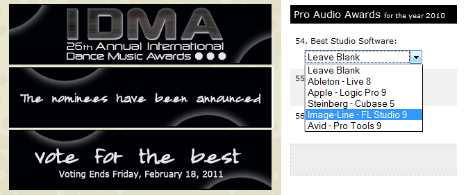 IDMA FL Studio Nominated