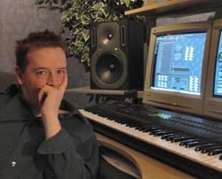 Image of Stu MacQ in the studio