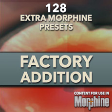 Image of the Morphine Factory Addition Presets - only download available online - no cd included.