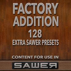 Image of the Sawer Factory Addition Presets - only download available online - no cd included.