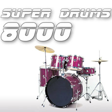 Image of the SuperDrums 8000 CD - only download available online - no cd included.